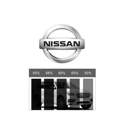 Färdigskuren Solfilm Proffs NISSAN