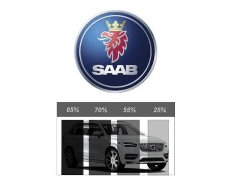 Färdigskuren Solfilm Avtagbar SAAB