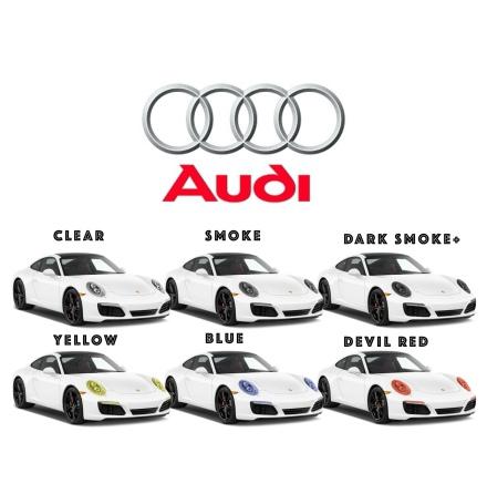 Färigskuren skyddsfilm lyktor alla AUDI modeller