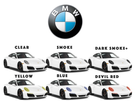 Färigskuren skyddsfilm lyktor alla BMW modeller