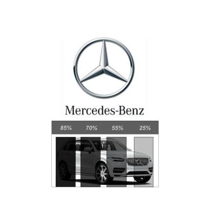 Färdigskuren Avtagbar Solfilm - Mercedes-Benz