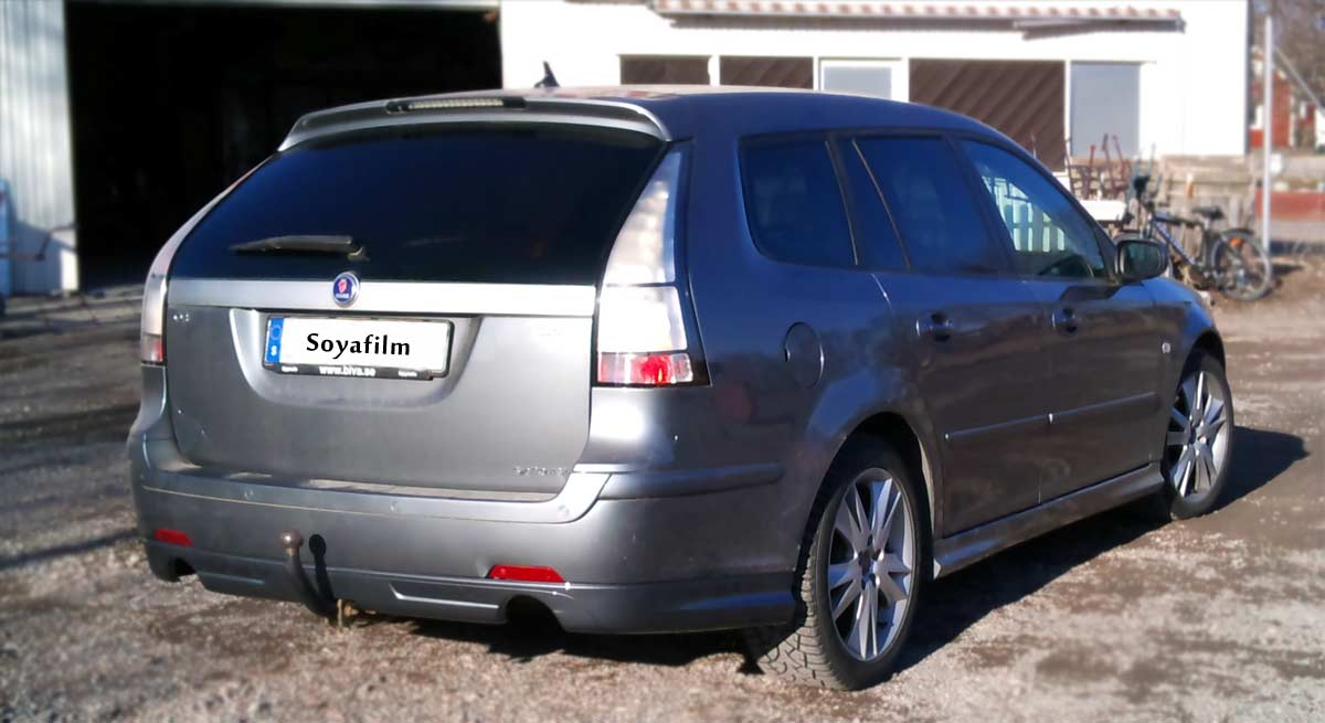 Solfilm--Fardigskuren--Avtagbar-Saab9-3-kombi--Reusable-Removable-Window-Tint-Film-Pre-Cut